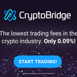 Choose CryptoBridge - One of the cheapest and most transparent ways to trade
