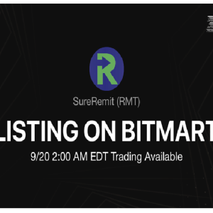 BitMart Lists the Global Non – Cash Remittance Ecosystem – SureRemit (RMT)