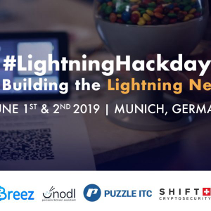 The 5th Bitcoin Lightning Network Hackday to be held in Munich on June 1st/2nd 2019