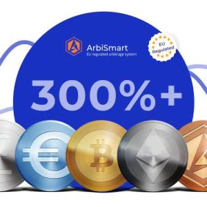 ArbiSmart Crypto Arbitrage Platform: Pays daily interest gains on your Crypto or Fiat deposits