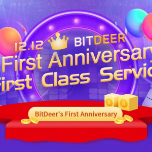 BitDeer celebrates 1 year anniversary with big giveaway
