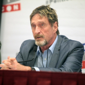 McAfee Hunted by the IRS But Will Still Run For President 'In Exile'