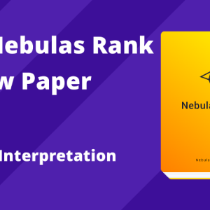 "Official Interpretation of ""Nebulas Rank Yellow Paper"""