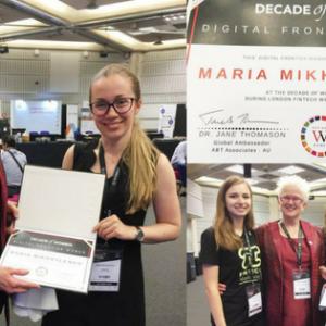 BANKEX's Maria Mikhailenko Earns Frontier Award at London Fintech Week