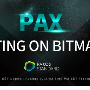 BitMart Lists Paxos Standard (PAX), Rebuilding the Trust in Blockchain World