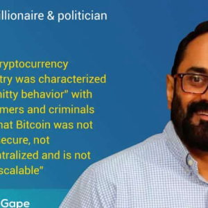 """Indian Govt. Will Eventually Join the Crypto Party "" Says Indian Billionaire & Politician"