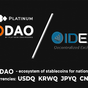 Platinum Q DAO Engineering Reports: Trade Q DAO, USDQ & KRWQ on IDEX Now!
