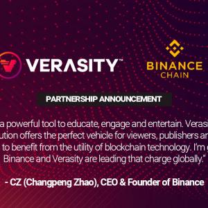 Binance Chain Welcomes Video Economy Thanks to Verasity