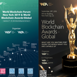 WBF 'New York 2019 & World Blockchain Awards' — Accelerating Blockchain Innovation and Beyond