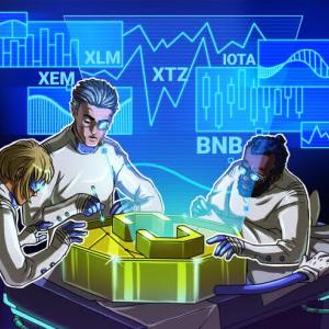 Top 5 Crypto Performers: XEM, XLM, XTZ, BNB, IOTA