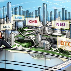 Las 5 principales criptomonedas para observar esta semana: BTC, NEO, XMR, ADA, LINK