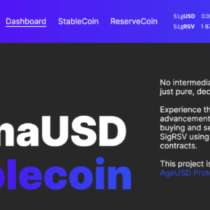 SigmaUSD – Ergo's Community Deployed Stablecoin Is Live!