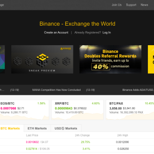 Binance CEO: 10 Fiat Exchanges and a Decentralized Exchange in 2019