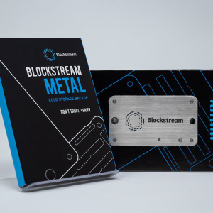 "Blockstream Debuts ""Blockstream Metal,"" a Stainless Steel Private Key Protection Device"