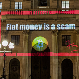 Unmasking the London Bitcoin Projectionist Covering City with BTC Slogans