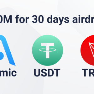 Atomic Wallet Announces TRON-USDT Airdrop Worth $30 million, Daily Rewards for TRX Hodlers