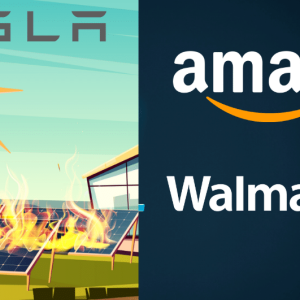 Amazon Backs Up Walmart and Says That Tesla Solar Panels Caught Fire