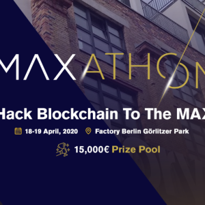 Maxonrow's First Hackathon, MAXathon will take place in Berlin on April 18–19, 2020