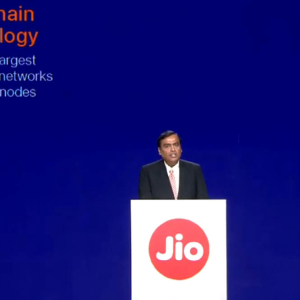 Mukesh Ambani announce Reliance Jio blockchain for India