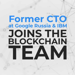 Interview with the Former CTO at Google: Position within Credits Blockchain Company