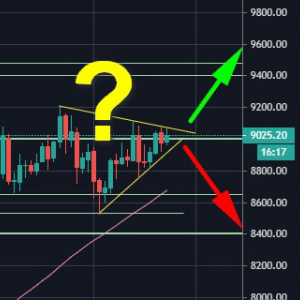 Bitcoin Price Analysis: The Triangle Formation Can Send BTC To $10K Or $8K, Breakout Soon?