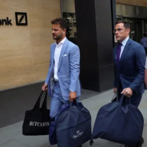 The story behind the iconic Deutsche Bank 'Bitcoin Bag Man' photo