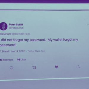 Peter Schiff's Bitcoin tweets are being turned into memorabilia