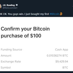 Crypto Twitter Tries, Fails at Explaining Bitcoin (BTC) to J.K Rowling
