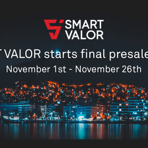 SMART VALOR Opens the Final Round of Presale for Its Cryptocurrency VALOR