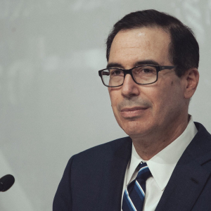"U.S. Treasury Secretary says firms dropped out of Libra as it's not ""up to par"" with regulatory standards"