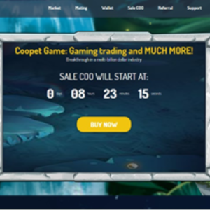Coopet Announces Token Sale for Blockchain Game
